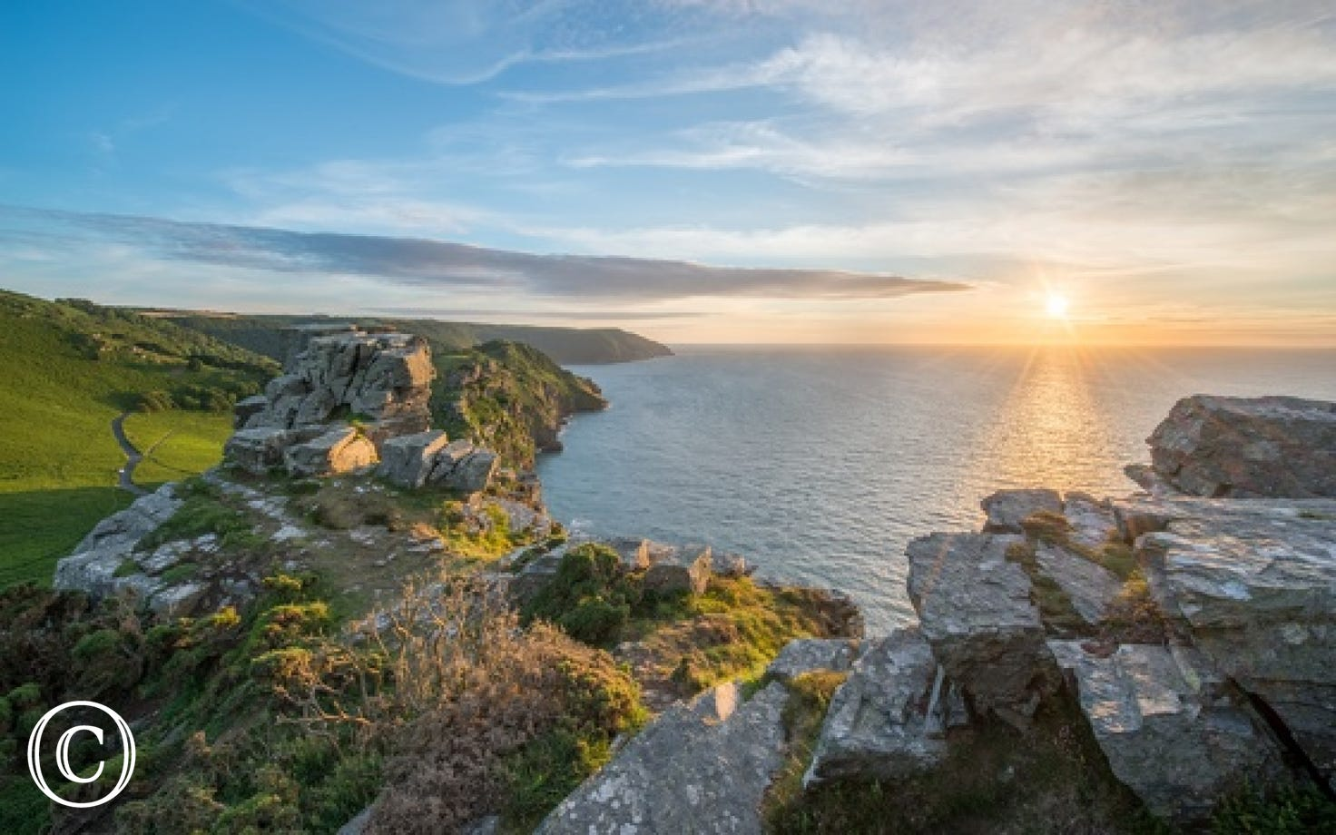 Enjoy a beautiful sunset walk at Valley of the Rocks which is a short distance away