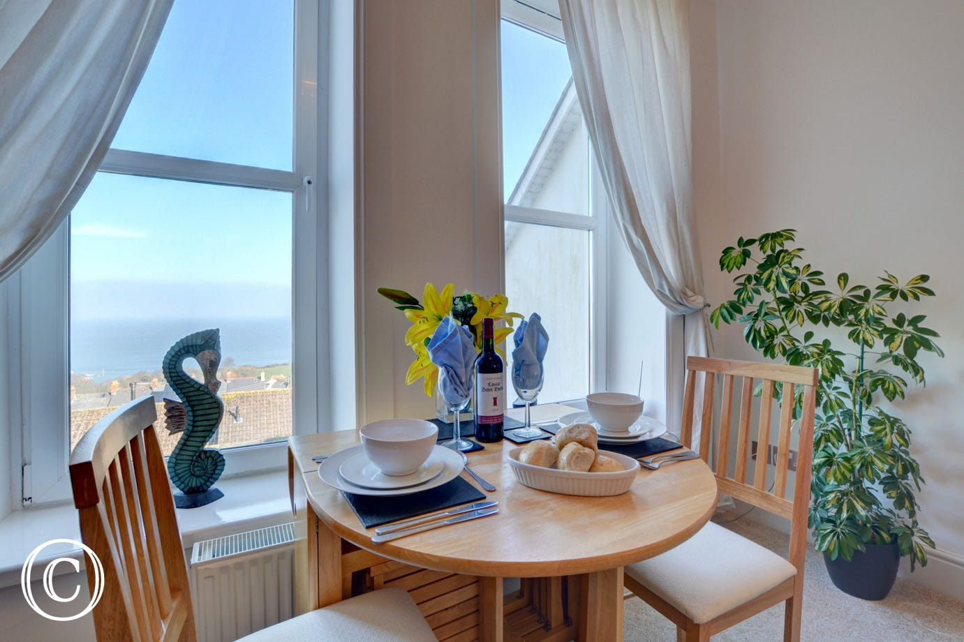 You can see Ilfracombe harbour from the comfort of your apartment