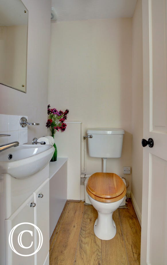 The ensuite WC and basin