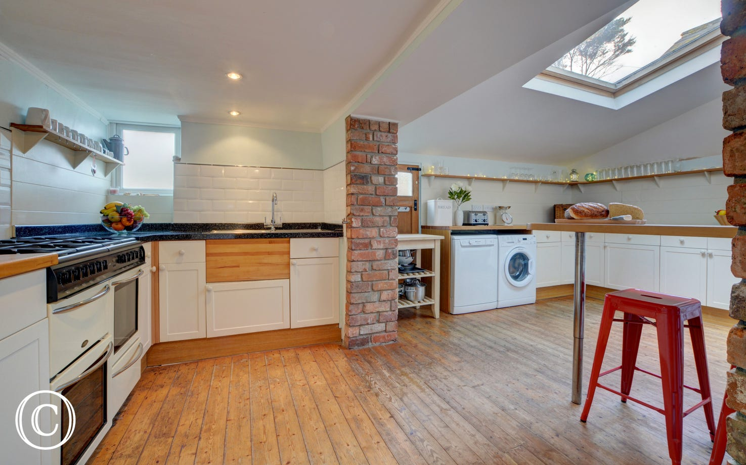 Very spacious and well equipped kitchen